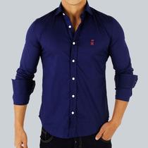Camisa Social Sergio K Azul Marinho