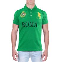 Camisa Polo Decreto Base Roma Verde
