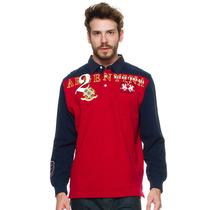 Camisa Polo Masculina Vermelho E Azul - La Martina