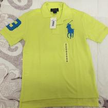 Camiseta Polo Original Polo Ralph Lauren Tam 8 Anos - Nova