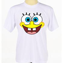 Camisa Camiseta Bob Esponja Tradicional Baby Look