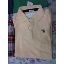 Camisas A&f Abercrombie & Fitch Tamanho M - Polo E Flanelada