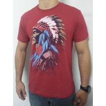 Camiseta Abercrombie & Fitch Estampa Índio 100% Algodão