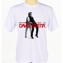Camisa Personalizada Adulto Cantor David Guetta Manga Curta