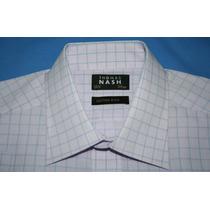 Camisa Social Marca Inglesa Thomas Nash Manga Curta Tam. 39