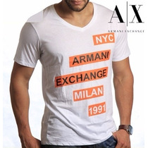 T Shirt Armani Exchange Original Masculina Frete Grátis