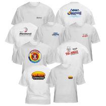 Camisa Branca Promocional Para Estampar 100% Alg Fio 30.1