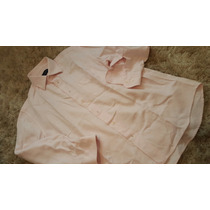 Camisa Rosa 43 Brooksfield 100% Algodão Italiana Um Uso Nova
