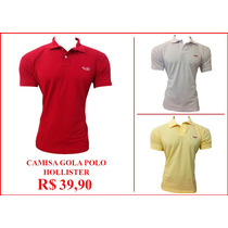 Camisa(camiseta)gola Polo Hollister Masculina Promoção!