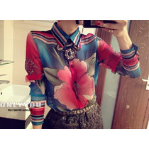 Camisa Social Feminina Blusa Fashion Frete Grátis Linda!