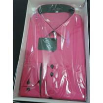Camisa Social Masc.manga Longa- Número 04 Trad Cor: Pink