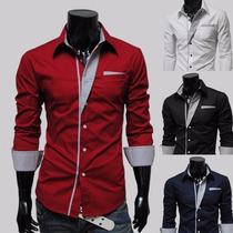 Camisa Slim Masculina Fit Luxo Frete Grátis Importada