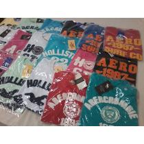 Camiseta Hollister Abercrombie & Fitch Kit C/10 Unidades