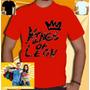 Camisa Kings Of Leon Banda Camiseta Masculina Vermelha Banda