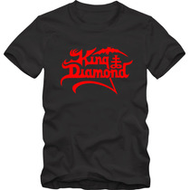 King Diamond Camiseta Tradicional T-shirt Algodão 30.1 Silk