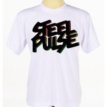 Camisa Personalizada Banda Reggae Steel Pulse Manga Curta