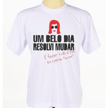 Camisa Estampada Banda Cantora Rock Rita Lee Manga Curta