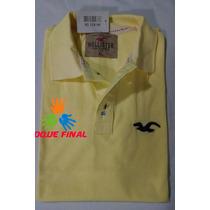 Kit 3 Camisas Gola Polo Hollister Masculina