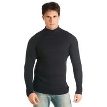 Camisa Gola Alta Masculina Segunda Pele Viscose Com Elastano