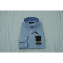 Camisa Social Masculina Hugo Boss , Cor Azul Claro