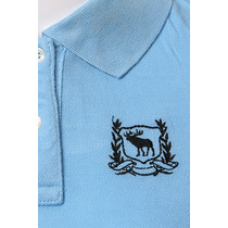 Abercrombie & Fitch 51659570 Azul Mulheres Polo Camisa