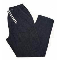 Calça Elástico Masculina Jeans Leve Plus Size 62 64 66 68 70