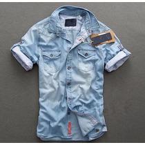 Camisa Jeans Blusa Deivid Beckham S & S Jaqueta - Importada