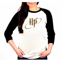 Camisa Harry Potter Hp Raglan 3/4