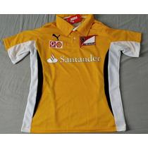 Camisa Ferrari Santander F1 Amarela