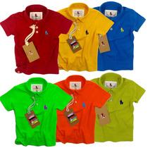 Kit 6 Camisas Polo Infantil, Qualid. Importada Original
