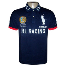 Camisa Polo Ralph Lauren Azul Marinho Rl Racing