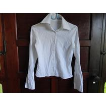 Camisa Feminina M Officer Tam P Manga Longa