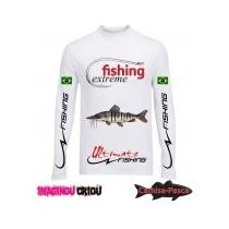 Camisa De Pesca Pintado Fish Extreme Dry Fit Proteção Uv