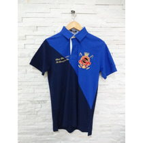 Camiseta Polo Black Blue P (original) Azul E Marinho