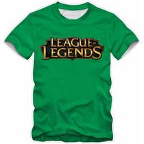 Camisa Camiseta League Of Legends Lol Algodão Alta Qualidade