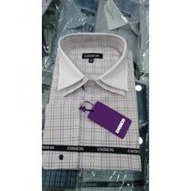 Camisa Social Masculina Duplo Colarinho Branco / Abotoadura