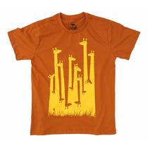 Camisa, Blusa, Camiseta Estampa Criativa E Bonita - Girafas