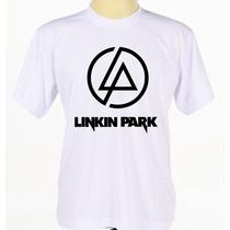 Camisa Linkin Park Estampada Banda Rock Manga Curta Adulto