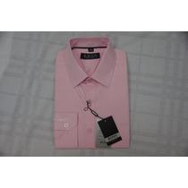Camisa Social Masculina Hugo Boss Cor Rosa