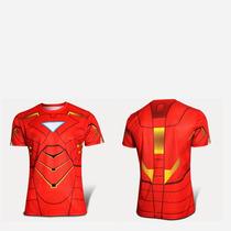 Ironman Homem De Ferro Camisa Super Heróis Frete Grátis C144