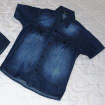 Camisa Social Infantil Masculina Jeans