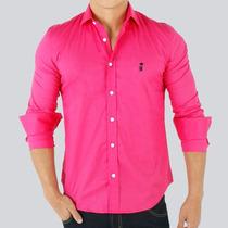 Camisa Polo Social Sergio K Rosa Pink Sk61 Frete Grátis