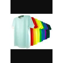 Camisas Lisas Malha Pp 100% Poliester Para Sublimação