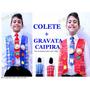Colete Junino Festa Junina Quadrilha Noivo + Gravata Caipira