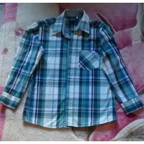 Camisa Infantil Xadrex Masculina Manga Comprida