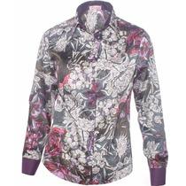Camisa Estampada Feminina Anitta Floral - Pimenta Rosada