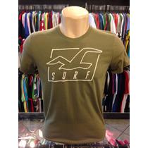 Camiseta Hollister Verde Tam P #559 Original ( Regata Polo )