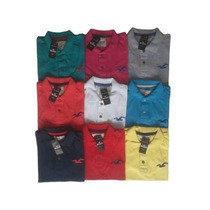 Kit C/ 3 Camisas Camisetas Polo Masculina Hollister