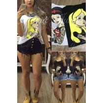 Blusa Camiseta Princesas Disney Tatuadas (rebeldes)