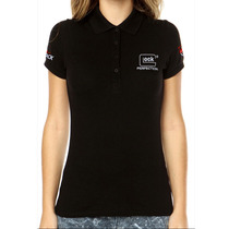 Camisa Gola Polo Glock Perfection - Preta Feminina